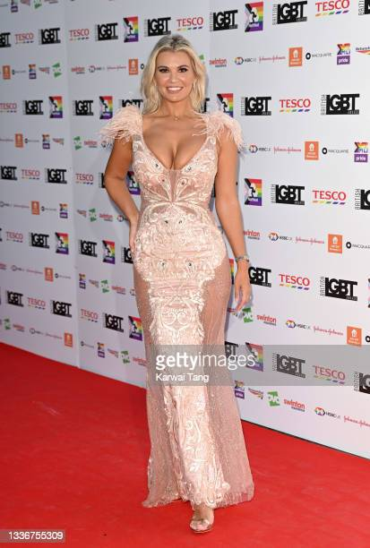 Christine McGuinness attends the British LGBT Awards 2021 at The Brewery on August 27, 2021 in London, England.