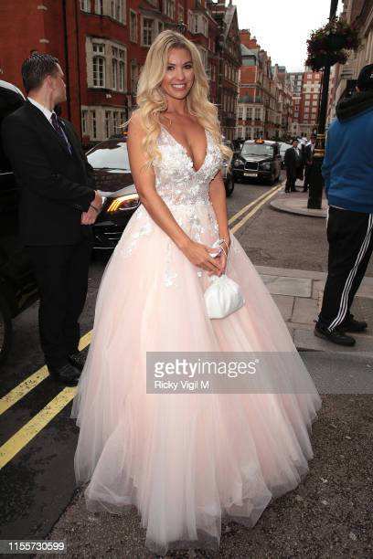 Christine McGuinness seen attending Caudwell Children Butterfly Ball at Grosvenor House on June 13 2019 in London England