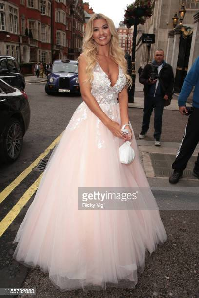 Christine McGuinness seen attending Caudwell Children Butterfly Ball at Grosvenor House on June 13, 2019 in London, England.