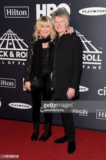 Christine McVie and Neil Finn of Fleetwood Mac attend the 2019 Rock & Roll Hall Of Fame Induction Ceremony at Barclays Center on March 29, 2019 in...