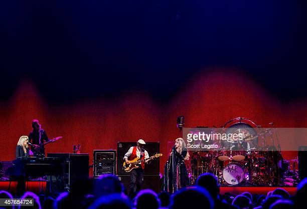 Christine McVie, John McVie, Stevie Nicks and Mick Fleetwood of Fleetwood Mac perform during the On With the Show Tour 2014 at The Palace of Auburn...
