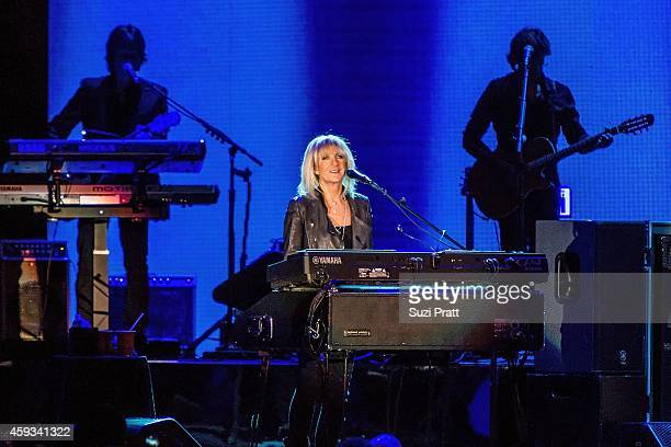 Christine McVie of Fleetwood Mac performs at the Tacoma Dome on November 20 2014 in Tacoma Washington
