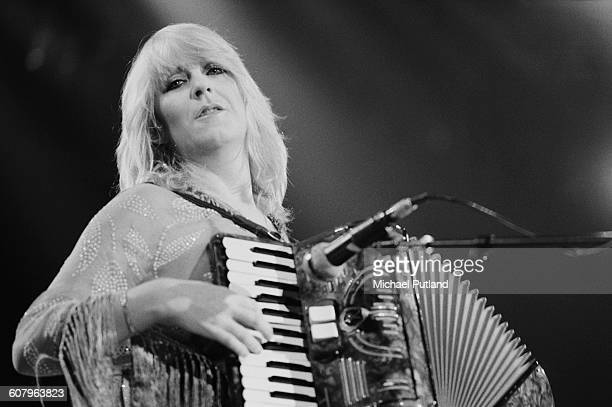 Christine McVie performing with Fleetwood Mac at one of six shows at Wembley Arena London between 20th 27th June 1980 The concerts are part of the...