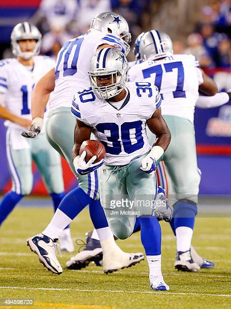 Christine Michael of the Dallas Cowboys in action against the New York Giants on October 25 2015 at MetLife Stadium in East Rutherford New Jersey The...