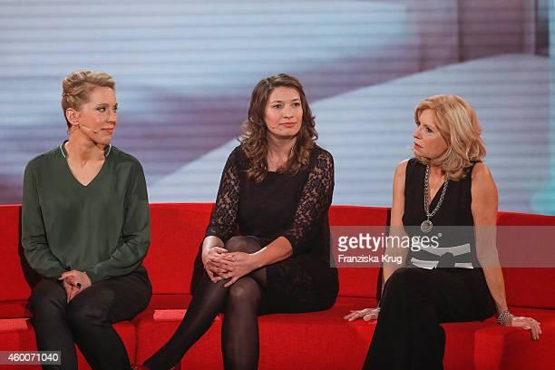 Christine Michel Ulrike Herkner and Sabine Postel attend the Ein Herz Fuer Kinder Gala 2014 Show on December 6 2014 in Berlin Germany
