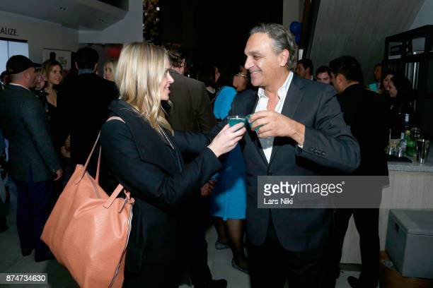 Christine Mignanelli and Publisher metropolitan magazine Chase Backer attend the Blu Perfer Blue Brut Launch Party for The 2018 8th annual Better...
