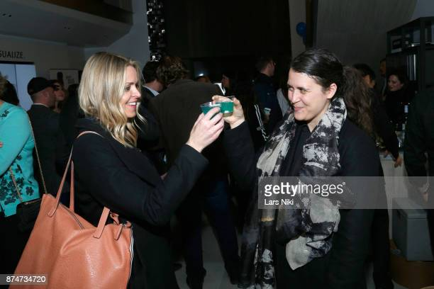 Christine Mignanelli and Stephanie de Sarachaga attend the Blu Perfer Blue Brut Launch Party for The 2018 8th annual Better World Awards on November...