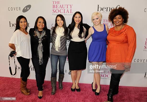Christine Milke, Leisha Bark, Patrice Ursing, Jennifer of Pixie Mama 5000, Leesha C. And Jen Stad attend The Beauty Social Presented by Beautylish...