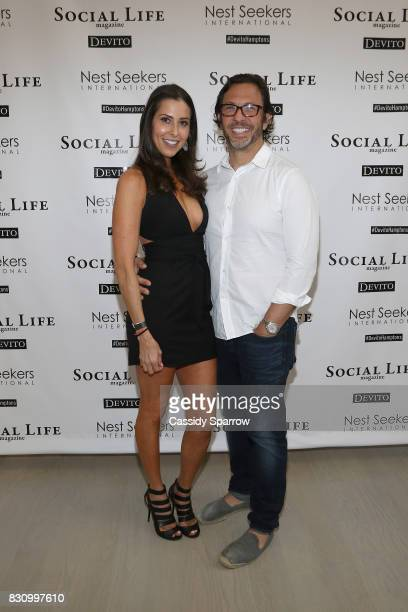 Christine Montanti and Dr Andrew Jacono attend the Social Life Magazine Nest Seekers August Issue Party on August 12 2017 in Southampton New York
