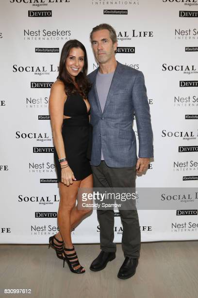 Christine Montanti and Justin Mitchell attend the Social Life Magazine Nest Seekers August Issue Party on August 12 2017 in Southampton New York