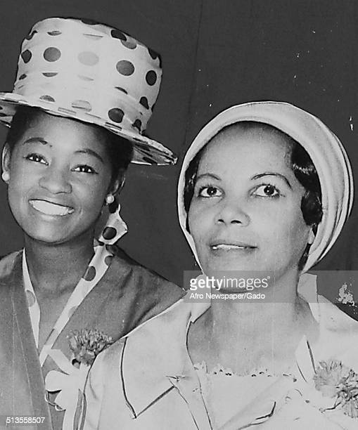 Christine Moore and members of the Delta Sigma Theta sorority May 15 1968