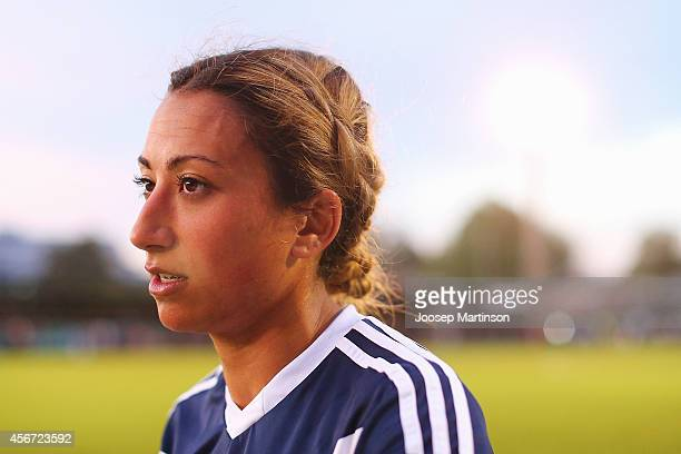 Christine Nairn of the Victory looks on after the round four WLeague match between Sydney and Melbourne at Lambert Park on October 6 2014 in Sydney...