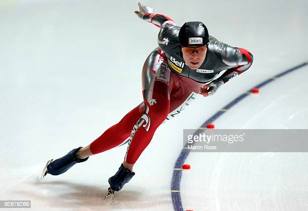 Christine Nesbitt of Canada competes in the women 500 m Division A race during the Essent ISU World Cup Speed Skating on November 7 2009 in Berlin...