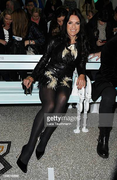 Christine Neubaue attends Marc Cain Autumn/Winter 2013/14 fashion show during MercedesBenz Fashion Week Berlin at Hotel de Rome on January 17 2013 in...