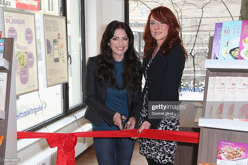Christine Neubauer and Britta Ziskoven Open Weight Watcher Center on January 19, 2013 in Munich, Germany.