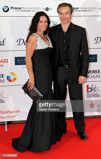 Christine Neubauer and Hannes Jaenicke attend the 'Steiger Awards' at Jahrhundert Halle on March 17 2012 in Bochum Germany