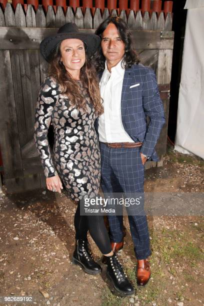 Christine Neubauer and her boyfiend Jose Campos during the 'Winnetou und das Geheimnis der Felsenburg' premiere on June 23 2018 in Bad Segeberg...