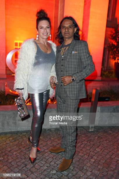 Christine Neubauer and her boyfriend Jose Campos attend the Berlin Opening Night by GALA UFA Fiction during 69th Berlinale International Film...