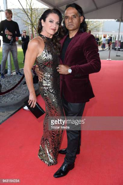 Christine Neubauer and her boyfriend Jose Campos attend the 'Goldene Sonne 2018' Award by SonnenklarTV on April 7 2018 in Kalkar Germany
