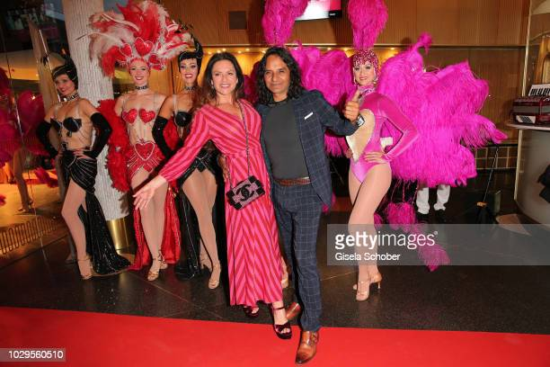 Christine Neubauer and her boyfriend Jose Campos during the 100th bitrhday celebration gala for Artur Brauner at Zoo Palast on September 8 2018 in...