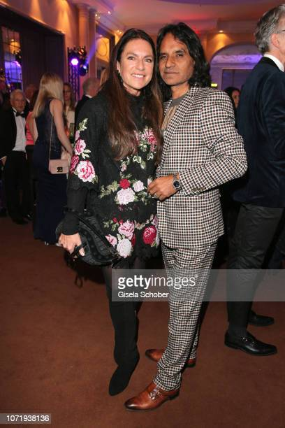 Christine Neubauer and her boyfriend Jose Campos during the Audi Generation Award 2018 at Hotel Bayerischer Hof on December 11 2018 in Munich Germany