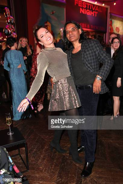 Christine Neubauer and her boyfriend Jose Campos during the BUNTE BMW Festival Night at Restaurant Gendarmerie during the 69th Berlinale Filmfestival...