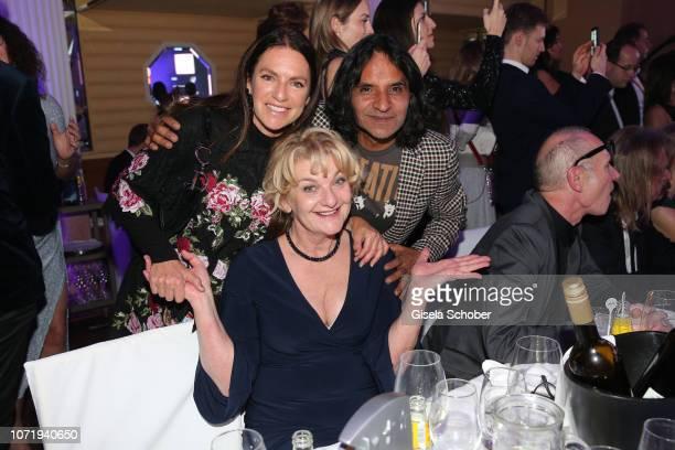 Christine Neubauer and her boyfriend Jose Campos Saskia Vester during the Audi Generation Award 2018 at Hotel Bayerischer Hof on December 11 2018 in...
