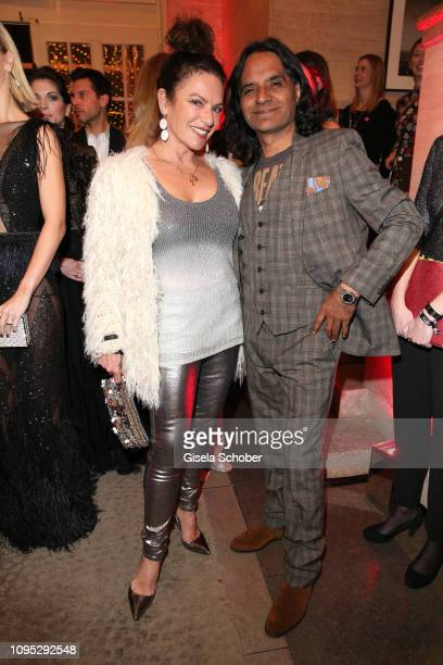 Christine Neubauer and her partner Jose Campos attend the Berlinale Opening Night by GALA UFA Fiction at Das Stue on February 07 2019 in Berlin...