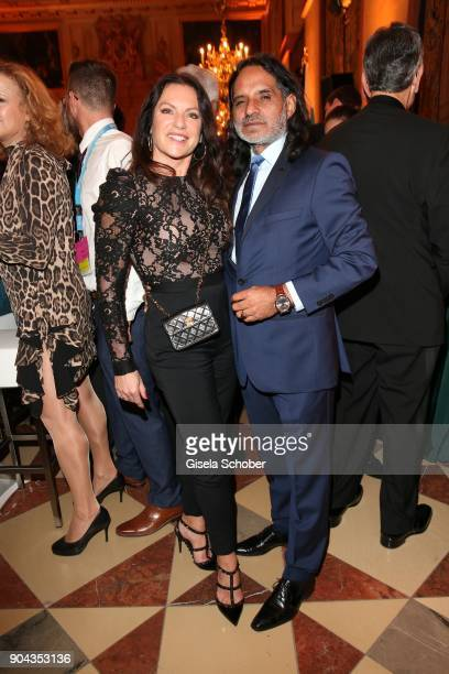 Christine Neubauer and her partner Jose Campos during the new year reception of the Bavarian state government at Residenz on January 12 2018 in...