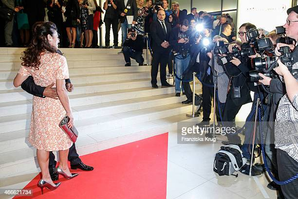 Christine Neubauer and Jose Campos attend the Deutscher Hoerfilmpreis 2015 on March 17 2015 in Berlin Germany