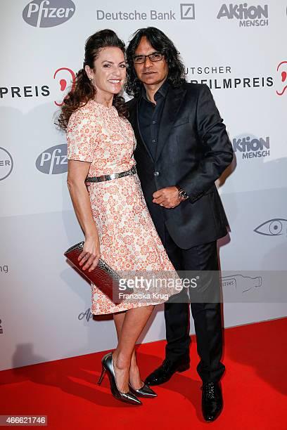 Christine Neubauer and Jose Campos attend the Deutscher Hoerfilmpreis 2015 on March 17 2015 in Berlin Germany