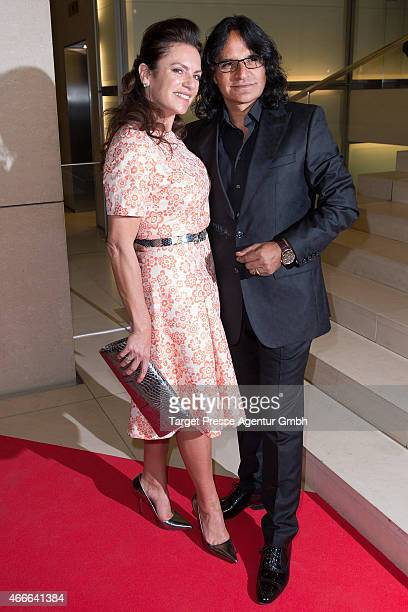 Christine Neubauer and Jose Campos attend the Deutscher Hoerfilmpreis 2015 at Deutsche Bank on March 17 2015 in Berlin Germany
