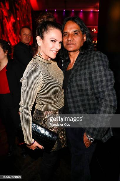 Christine Neubauer and Jose Campos during the BUNTE BMW Festival Night at Restaurant Gendarmerie on February 8 2019 in Berlin Germany