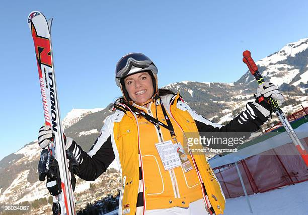 Christine Neubauer at the Kitzbuehel Charity Race on January 23 2010 in Kitzbuehel Austria