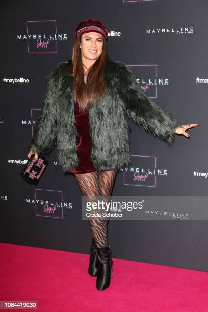 Christine Neubauer at the Maybelline New York show 'Makeup that makes it in New York' during the Berlin Fashion Week Autumn/Winter 2019 at...