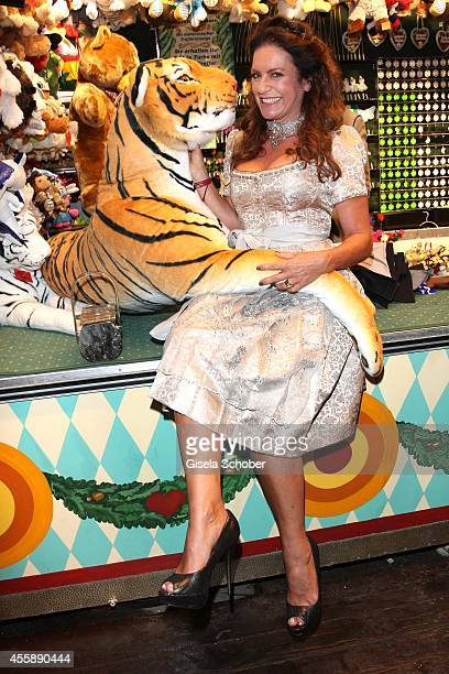 Christine Neubauer attends the 'Almauftrieb' at Kaefer tent during Oktoberfest at Theresienwiese on September 21 2014 in Munich Germany