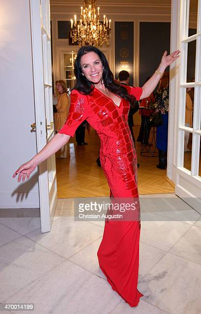 Christine Neubauer attends the Liz Malraux Fashion Show at Hotel Atlantic on February 17 2014 in Hamburg Germany