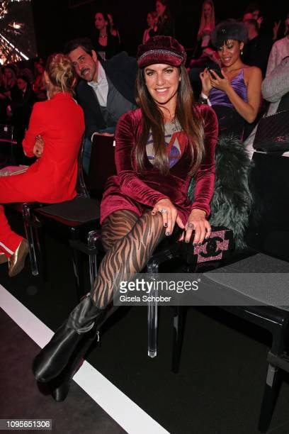 Christine Neubauer attends the Maybelline New York show 'Makeup that makes it in New York' during the Berlin Fashion Week Autumn/Winter 2019 at...