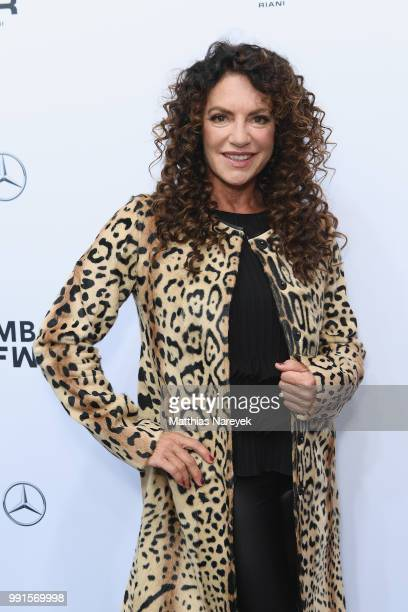 Christine Neubauer attends the Riani show during the Berlin Fashion Week Spring/Summer 2019 at ewerk on July 4 2018 in Berlin Germany