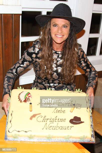 Christine Neubauer celebrates her 56th birthday during the 'Winnetou und das Geheimnis der Felsenburg' premiere on June 23 2018 in Bad Segeberg...