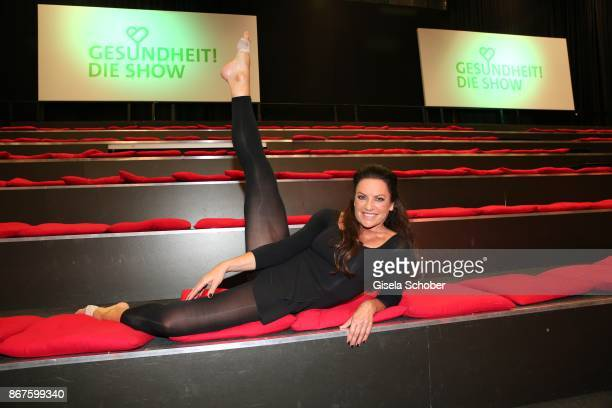 Christine Neubauer during the photo call of 'Gesundheit! Die Show' on October 28, 2017 at Arri Studio in Munich, Germany.