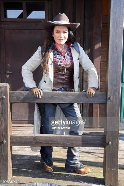 Christine Neubauer during the 'Winnetou und das Geheimnis der Felsenburg' photo call for the Karl May Festival on March 2, 2018 in Bad Segeberg,...