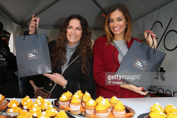 Christine Neubauer Jana Ina Zarella attend the opening of the City Outlet Geislingen on October 27 2016 in Geislingen Germany