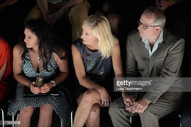 Christine Neubauer Judith Milberg and Axel Milberg attend the Laurel Show during the MercedesBenz Fashion Week Spring/Summer 2014 at Brandenburg Gate...