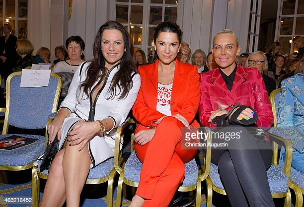 Christine Neubauer Mariella Ahrens and Natascha Ochsenknecht attend Liz Malraux Fashion Show at Hotel Atlantic on February 11 2015 in Hamburg Germany