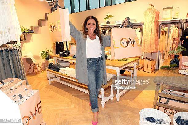 Christine Neubauer, wearing an outfit by Triangle during the TRIANGLE store opening at Riem Arcaden on August 3, 2016 in Munich, Germany.