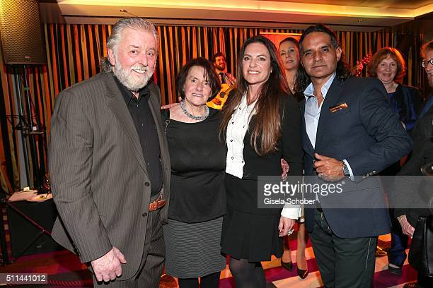 Christine Neubauer with her mother Lydia Neubauer and her father Erwin Neubauer and her partner Jose Campos during the 'Christine Neubauer Hautnah'...