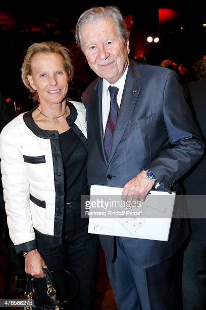 Christine Ockrent and Bruno Roger president of Martine Aublet Foundation attend the Martine Aublet Foundation gala dinner at the Musee Du Quai Branly...
