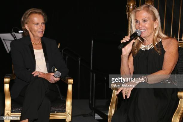 Christine Ockrent and Jane Hartley attend French American Foundation Annual Gala 2017 at Gotham Hall on November 28 2017 in New York City