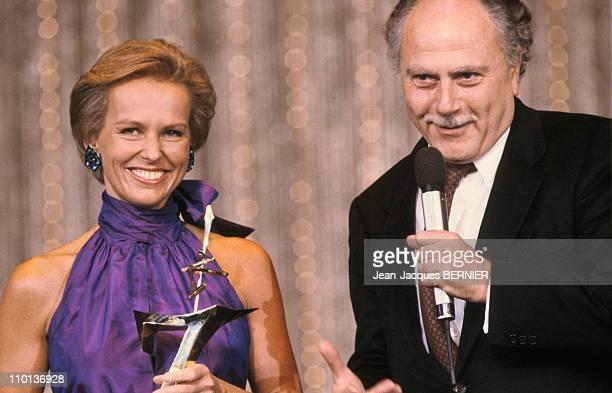 Christine Ockrent and Michel Polack in France on October 24 1986